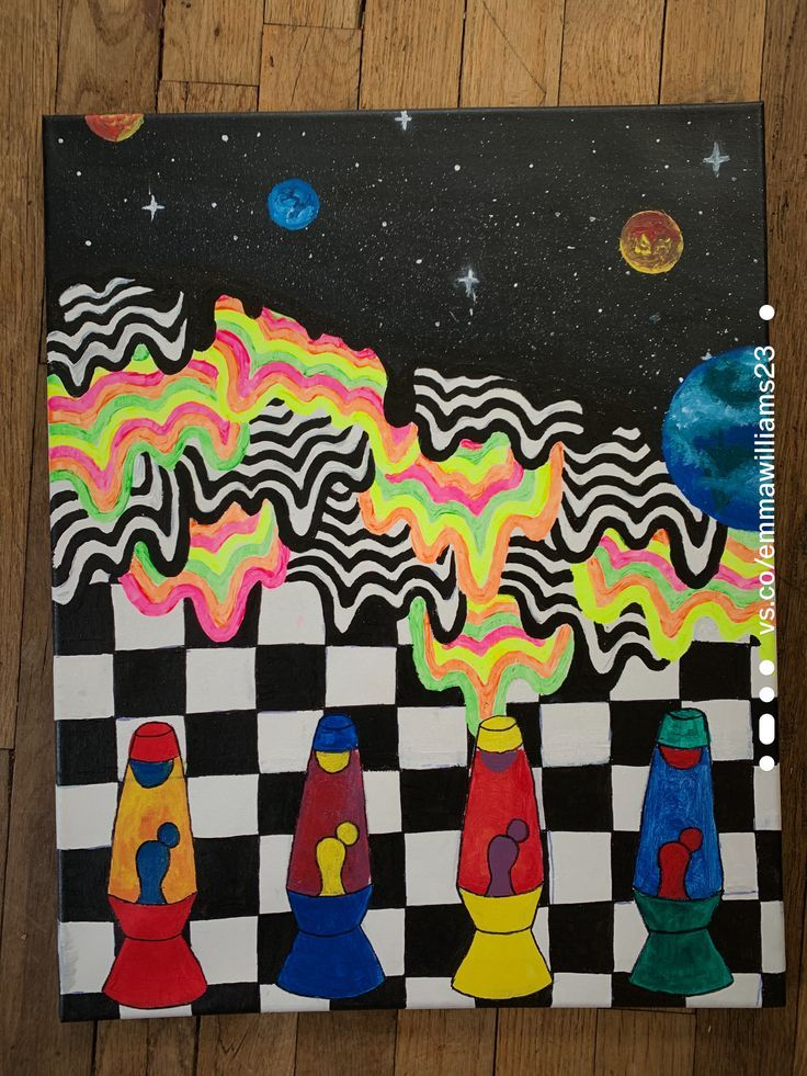 Painting Ideas On Canvas Trippy In 2020 Hippie Painting Trippy Painting Mini Canvas Art