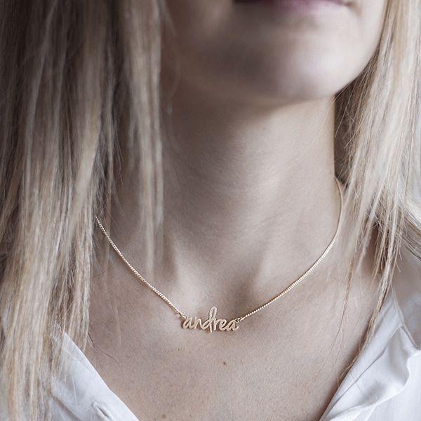 Collar con Nombre en Oro SUE   Joya Personalizable   SINGULARU