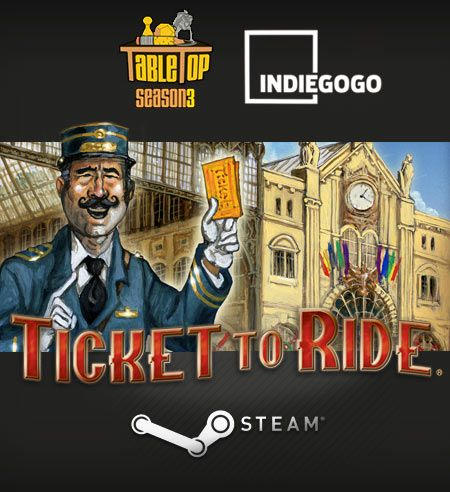 Back Wil Wheaton's Tabletop Season 3 Get Ticket to Ride Steam as a bonus!