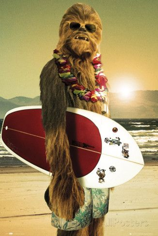 Star Wars, Chewbacca surfeur Affiches sur AllPosters.fr