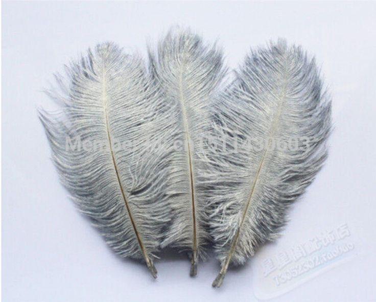 От 15 до 20 см/6-8 дюймов серый перо страуса перо свадьбы derss украсить стол украшения оптовая продажа бесплатная доставка 100 шт.