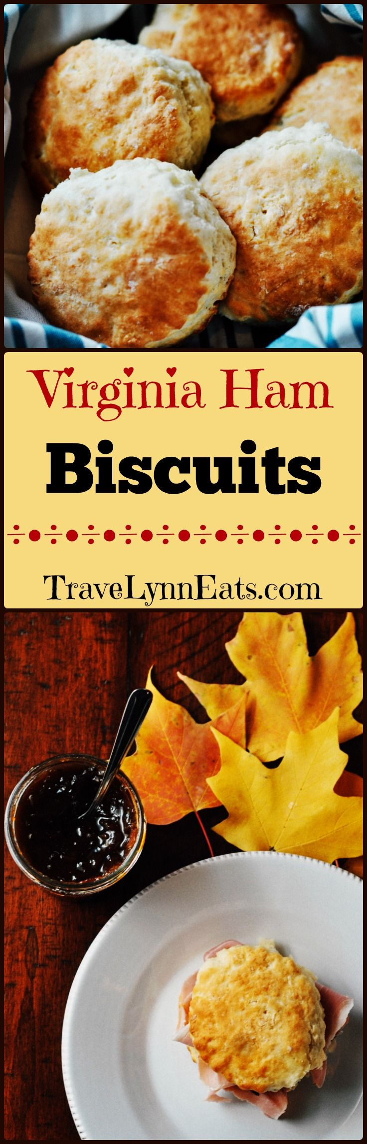 Virginia ham biscuits. A southern staple. Brunch, lunch, dinner, tailgate party, reception...whatever the occasion, you'll find these simple, tasty sandwiches on the menu.