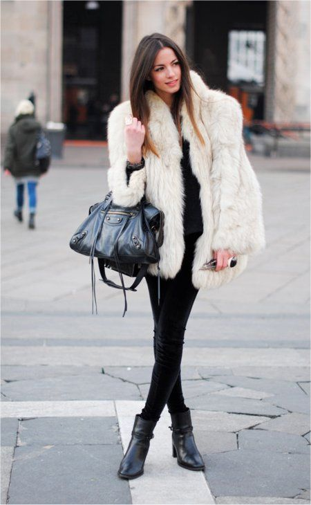 White Sheepskin Coat
