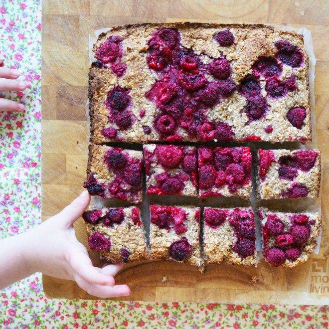raspberry oat bars