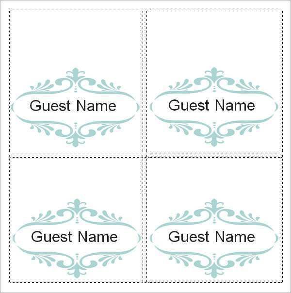 Professional Ms Word Place Card Template In 2021 Wedding Place Card Templates Printable Place Cards Templates Place Card Template
