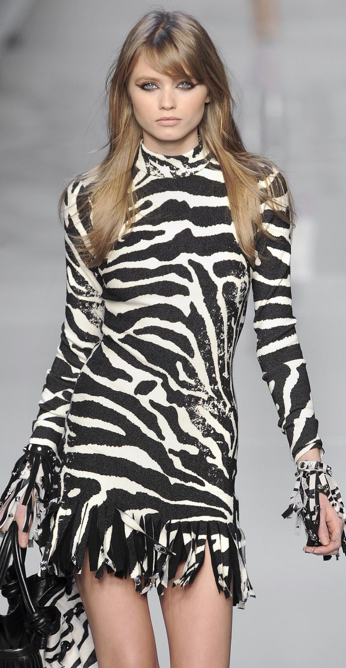 Zebra dress,Blumarine
