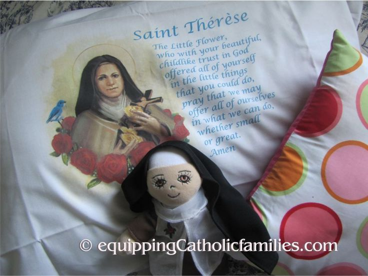 St Therese Prayer Pillowcase: win TWO! Enter by May 13!