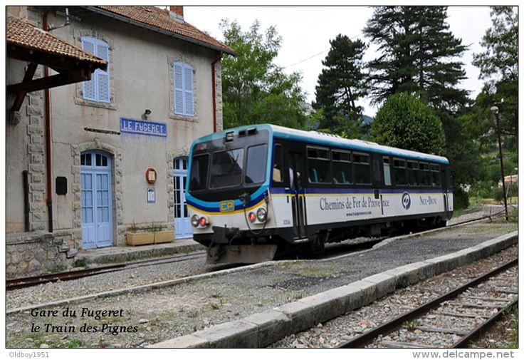 Gare du Fugeret , Alpes-de-Haute-Provence , le Train des Pignes  - une photo…