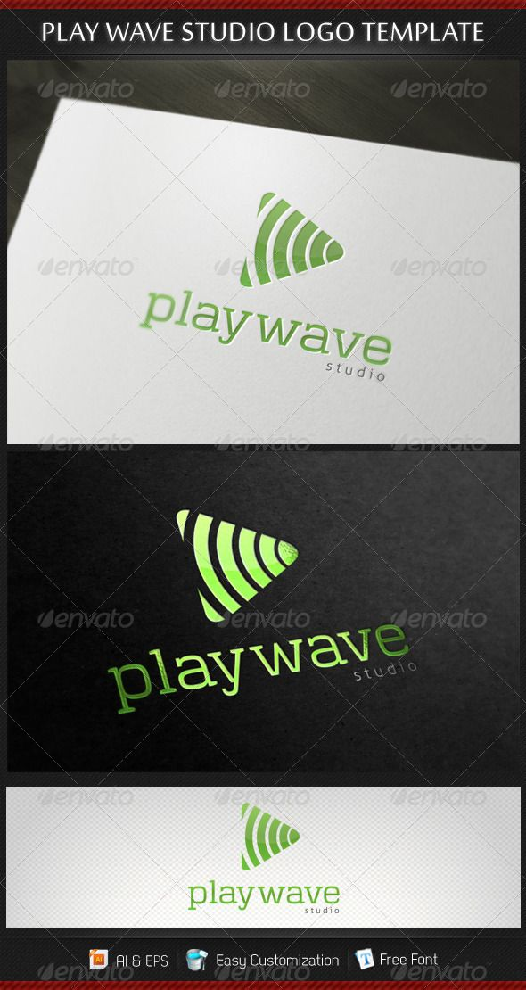 Play Wave Studio Logo Template - DOWNLOAD NOW