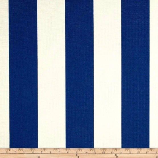 Richloom Solar Outdoor Cabana Stripe Cobalt Fabric By The Yard Outdoor Cabana Outdoor Solar Outdoor Fabric
