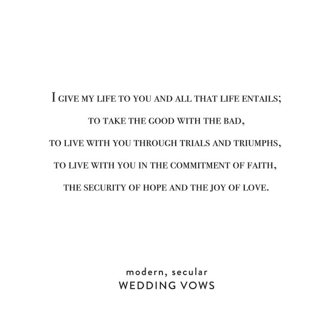 Simple Wedding Vows On