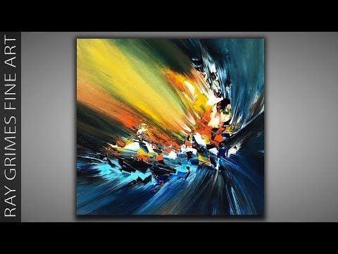Abstract painting technique / Acrylic colors / 197 / Relaxation / Painting demonstration – YouTube