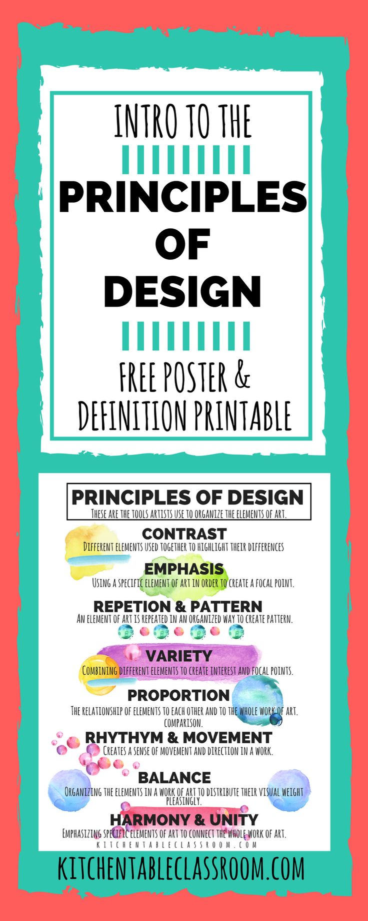 Build a foundation of knowledge by introducing basics such as these principles of design.