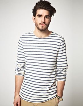 ASOS Long Sleeve Breton Stripe Top In Heavy Weight Jersey gah. stripes for  life son.
