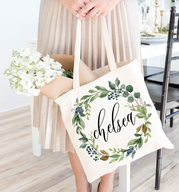 Bridesmaid Tote bag wedding day tote Thank you Bridesmaid gift bridesmaid personalized tote proposal