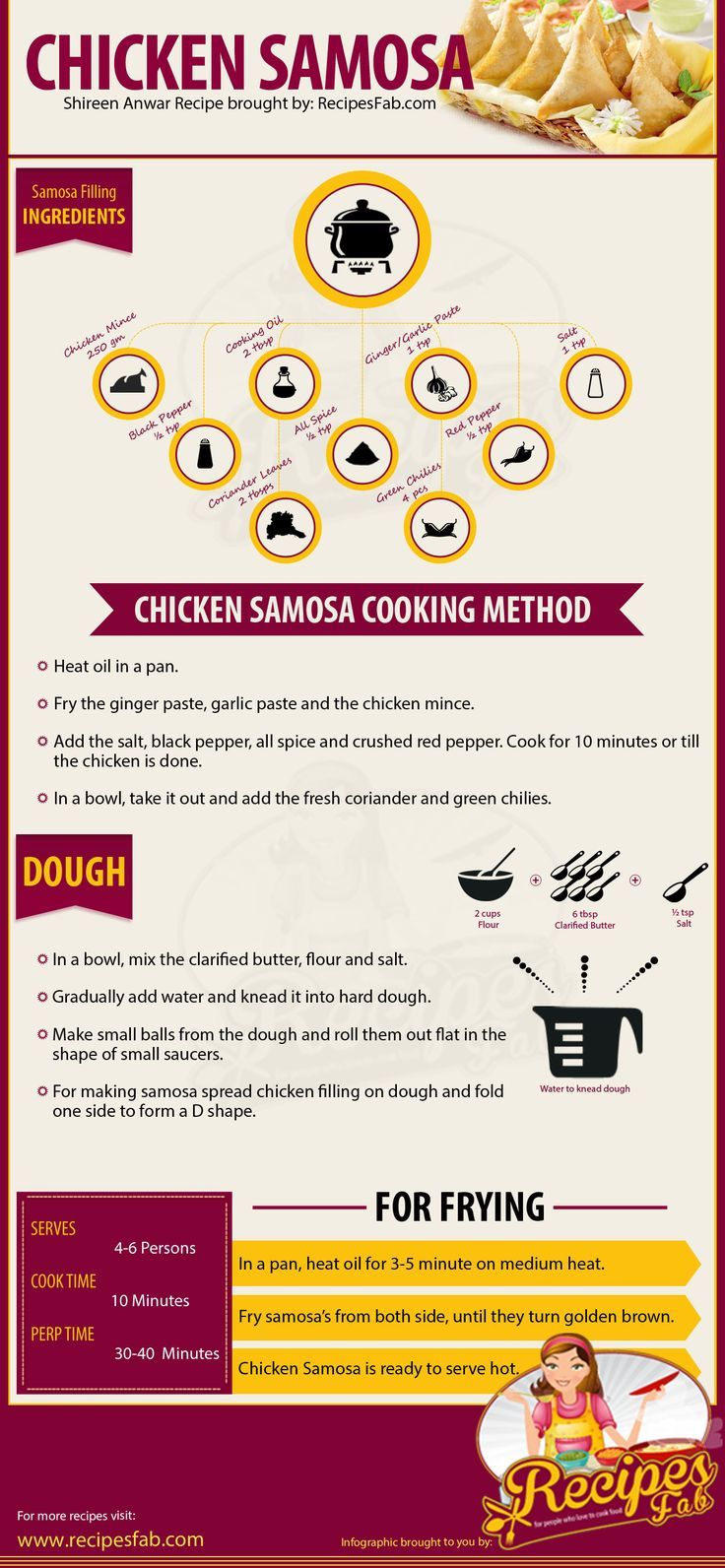 Chicken Samosa Recipe Infograph
