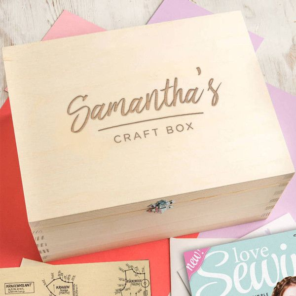 Dust and Things Personalised Arts And Craft Box For Teen Or Adult (€36) ❤ liked on Polyvore featuring home, home decor, wall art, quote wall art, wood home decor, craftsman style home decor, typography wall art and arts and crafts home decor