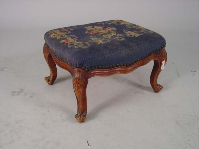 Antique Needlepoint Footstools | Needlepoint Footstool Design Inspirations