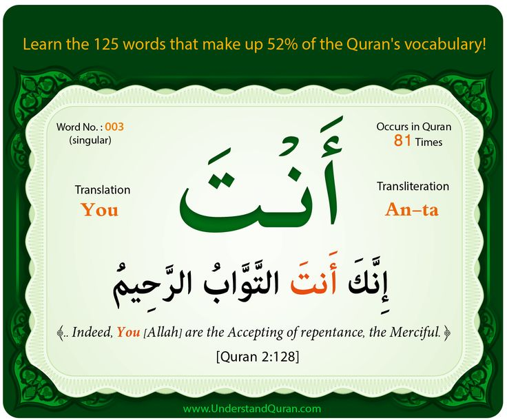 Words 1, 2, and 3 (Huwa, Hom, and Anta) - Understand Quran Academy