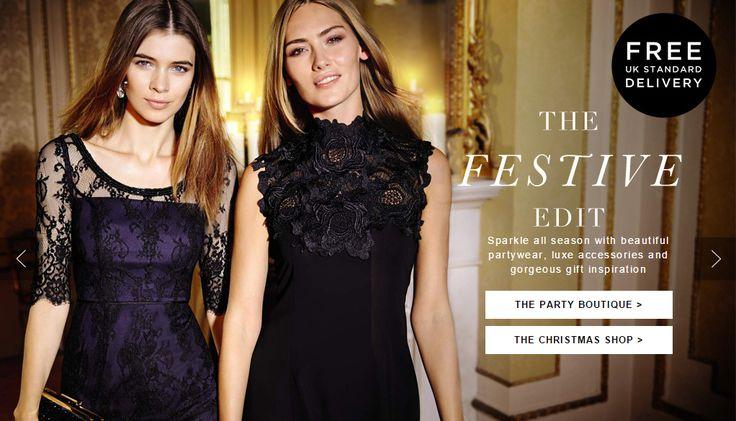 Monsoon Festive Edit Web Banner #Web #Banner #Digital #Online #Marketing #Fashion #Festive #Christmas #Collection #Edit