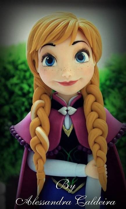 Disney Frozen Anna cake....I know a six year old princess who would love this!