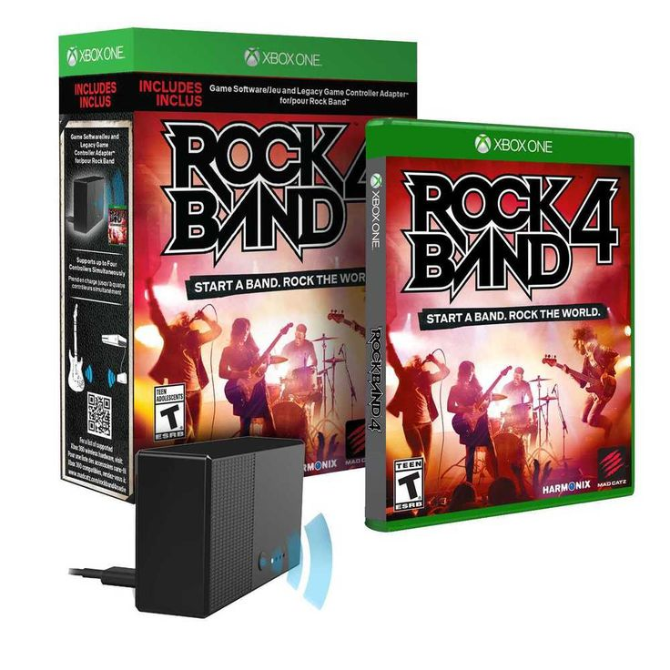 Rock Band 4 + Legacy Game Controller Adapter Box Pack (XBOX ONE) NEW