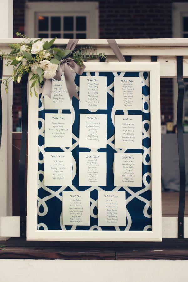 結婚式の青でエレガントな席次表まとめ一覧♡