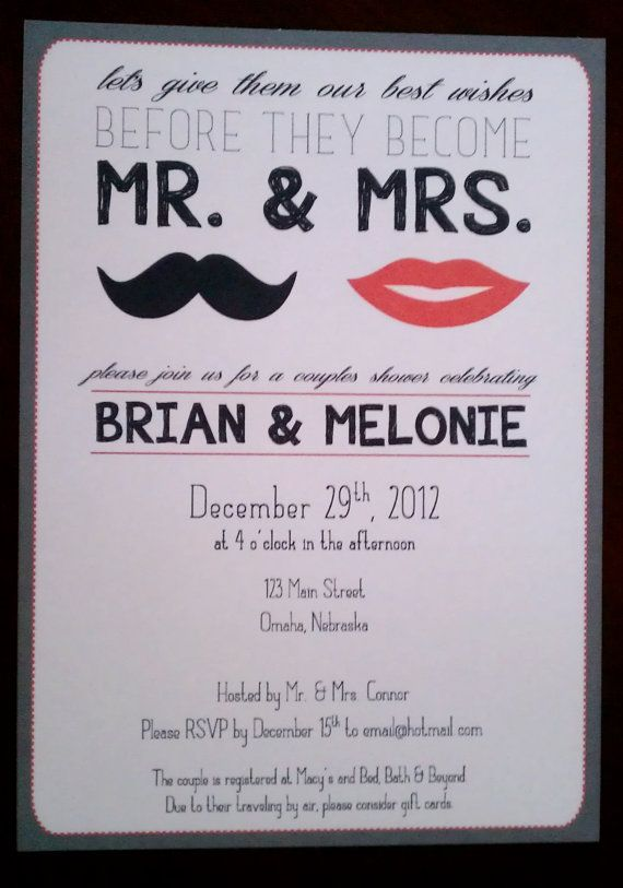 Couples Shower/Engagement Party Invitation on Etsy, $1.45