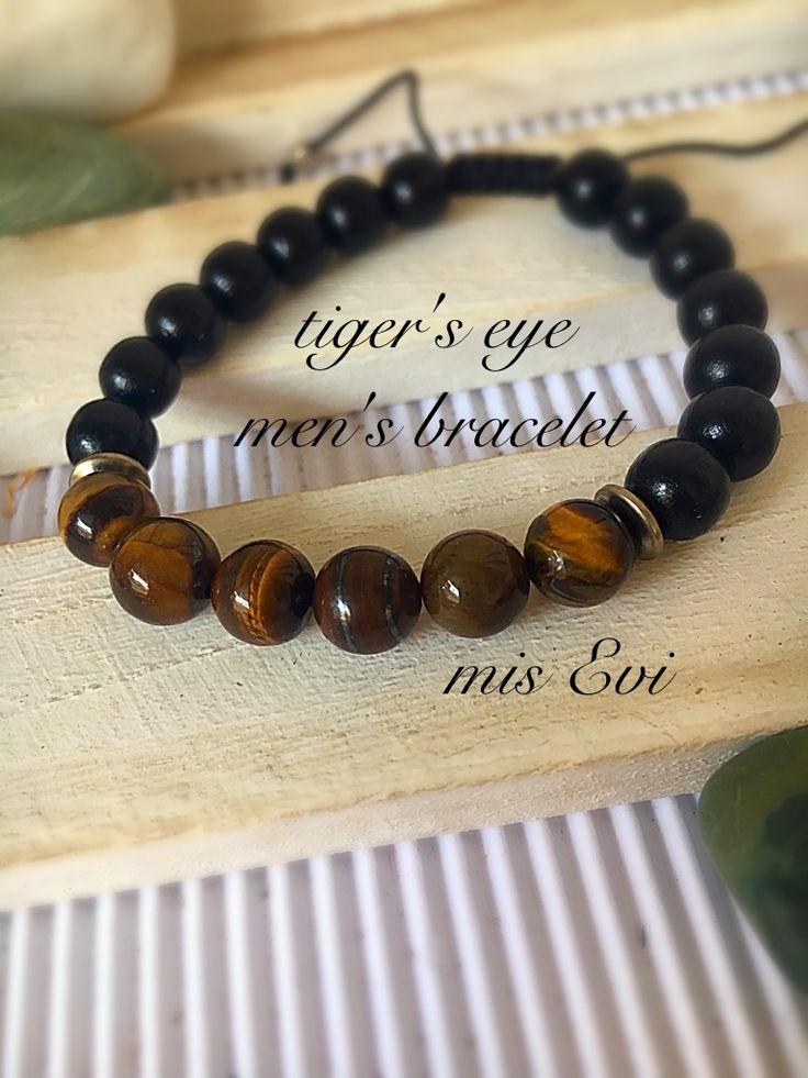 Tiger's eye men's bracelet!!!! Handmade