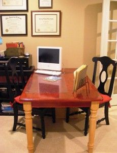 A desk for two: Finish up your work as your child does his or her homework.: Organizations, Desks, Offices Ideas