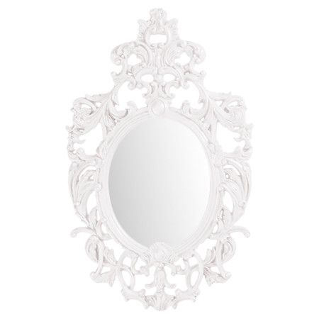 Damask Mirrors 281 best mirror mirror on the wall images on pinterest wall pairing classic baroque scrollwork with a glossy white lacquer finish this striking wall mirror brings sisterspd
