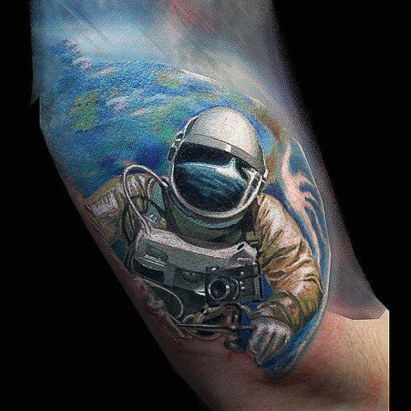 100 Astronaut Tattoo Designs For Men – Spaceflight Ideas