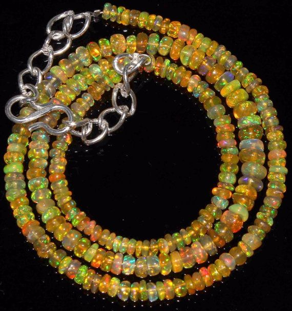 Natural Genuine Welo Ethiopian Opal Rondelles by alifaarts on Etsy
