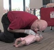 Do CPR on a Baby