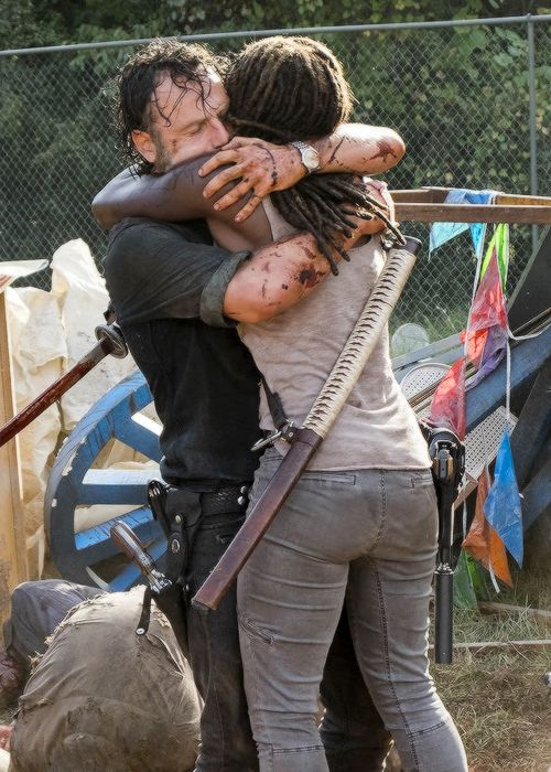 """"""" Michonne and Rick in The Walking Dead Season 7 Episode 12 