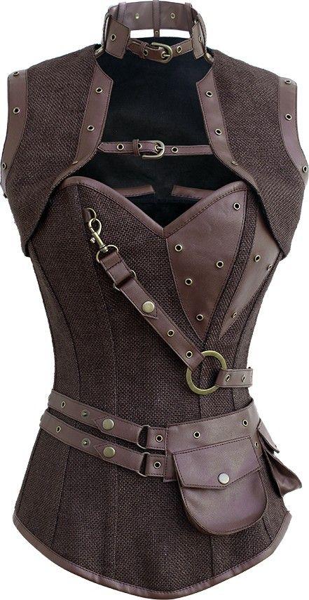 The Violet Vixen - Astute Steampunk Mastermind Jute, $110.78 (http://thevioletvixen.com/corsets/astute-steampunk-mastermind-jute/)
