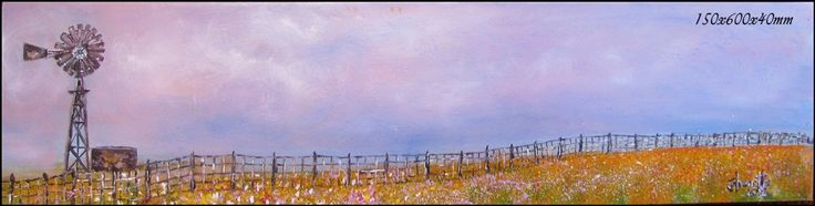 62	Namaqualand 	Oil Painting 	Stretched Canvas 150x600x40mm