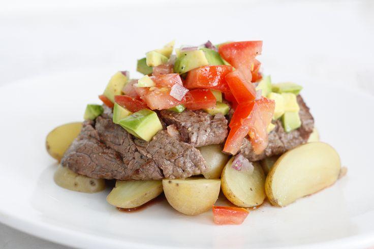 Bieflapjes met salsa & krieltjes – 5 OR LESS