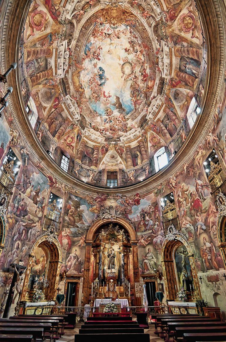Altar y cúpula de San Antonio de los Alemanes. by José Alfonso Portillo. The church was built in 1633 and it is noted for its baroque interior decoration. Madrid.