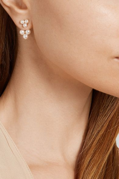 Yvonne Léon | 18-karat gold pearl earring | NET-A-PORTER.COM