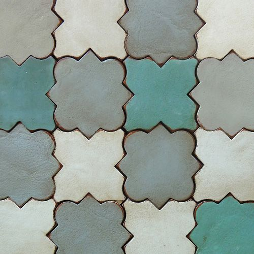 "moroccan shape. hearth.  Love this but they're 6"" tiles, so only room for two rows.  Plus, not enough room down the sides."