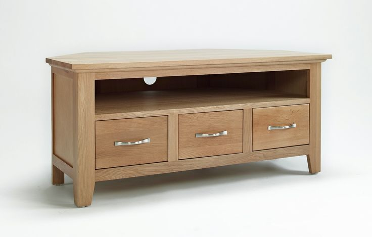 Sherwood Oak Corner TV/Video Unit   Sherwood Oak Furniture Features A  Decorative Curved Beading To The Underside Of Cabinet Tops And Chamfered,  ...