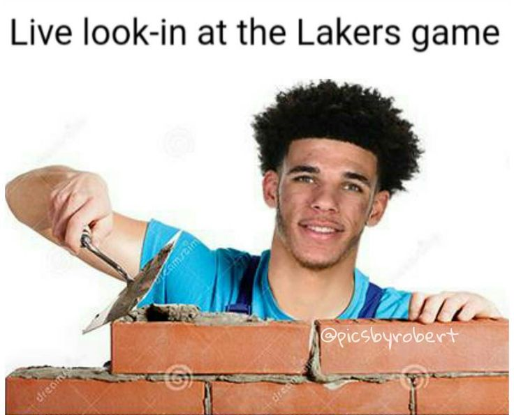 Yea I know the game hasn't started yet but I'm impatient.  Collab with Chuck over at @nbaontnt  #bigballerbrand #lonzoball #Lakers #basketball #nba #losangeles #Hollywood #lalaland #tnt #memes #brick #smile #happy #amazing #sad #hair #Saturday #losangeleslakers