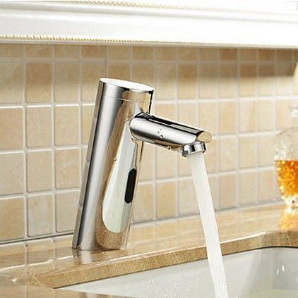 robinet d'évier en laiton salle de bain avec capteur automatique (à froid) F0106