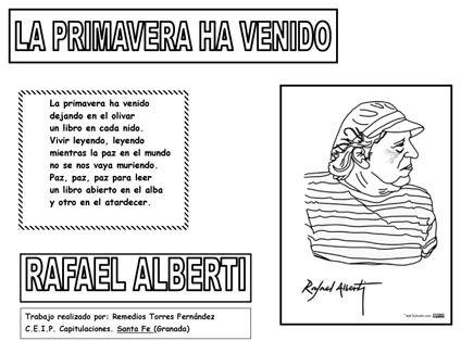 """Rafael Alberti: """"La primavera ha venido"""""""