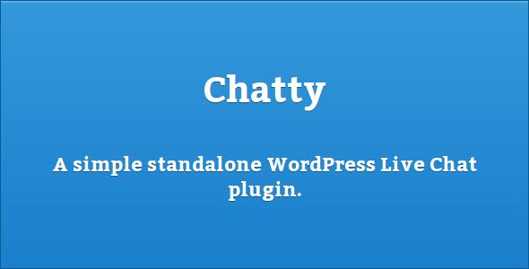 Chatty - Simple Live Chat Plugin for WordPress   http://codecanyon.net/item/chatty-simple-live-chat-plugin-for-wordpress/5359610?ref=damiamio        Chatty – Simple Live Chat Plugin for WordPressA simple standalone WordPress Live Chat plugin. Unlimited numbers of chats per website (both unique and shared)!Features  Unlimited chats  Unique/shared chat's  Simple to use No external API necessary, completely standalone  Auto-detection and formatting of links Css3 emoticons – no images  Works and…