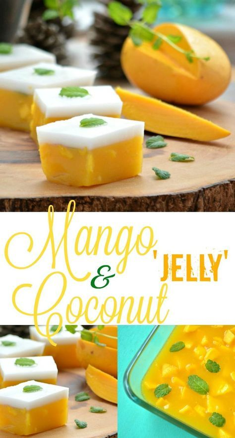 This 5-ingredient, vegan-friendly Mango and Coconut milk 'jelly' is the perfect summer dessert. Simple to make, rich, exotic & decadent.
