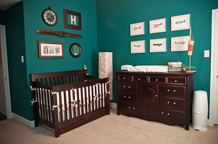 gorgeous color  for baby's nursery (works great for boy or girl). I don't care for the way they decorated it though.