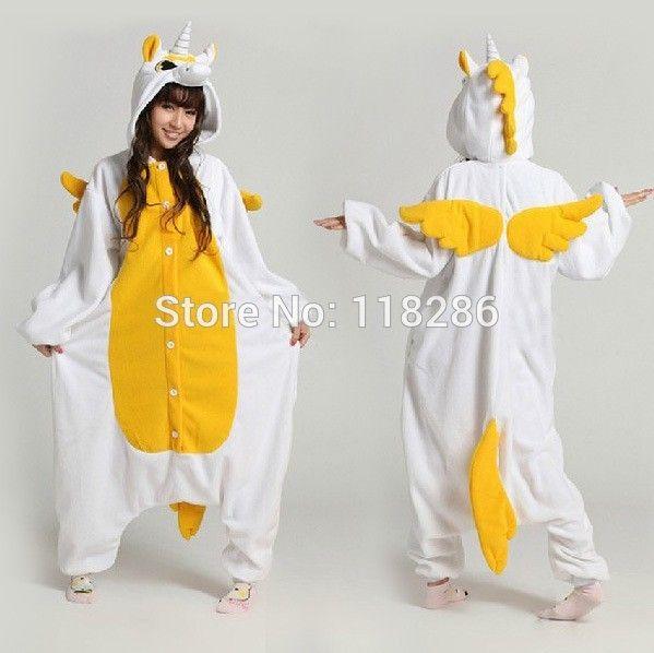 Hot Koop Unisex Flanel Liefhebbers Koppels Dier Pyjama Een Stuk Cartoon Cosplay Pyjama Kostuum Volwassen Eenhoorn Pyjama Nachtkleding