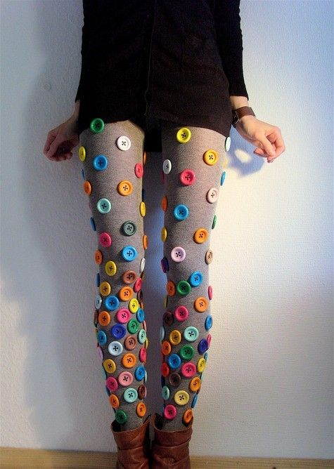 add buttons to socks for octopus costume. paint them black and have purple leggings for ursula maybe?